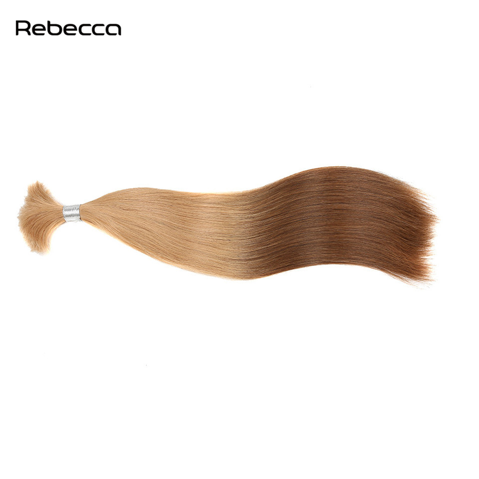 Ombre Brazilian Non Remy Blond Human Hair Straight Bulk Hair Extensions Brown Rebecca Hair Products Free