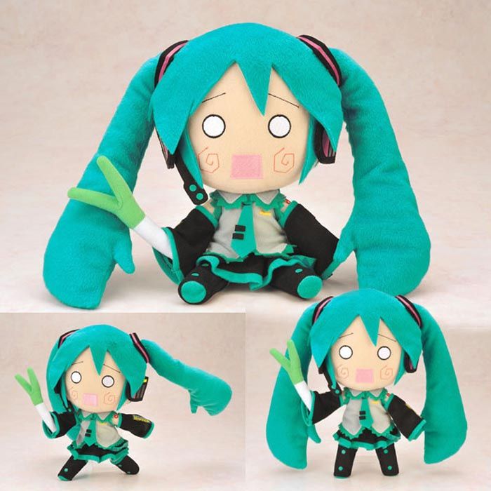 Japan Anime Vocaloid Hatsune Miku Cute Cartoon Plush Toy Stuffed Doll Girl Gift
