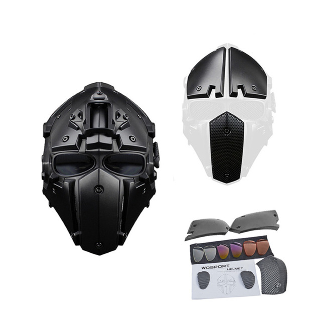 Hot New Tactical Helmet Paintball Mask w/ Mask Goggle All-round Airsoft CS Wargame Helmet NVG OBSIDIAN GREEN GOBL TERMINATOR