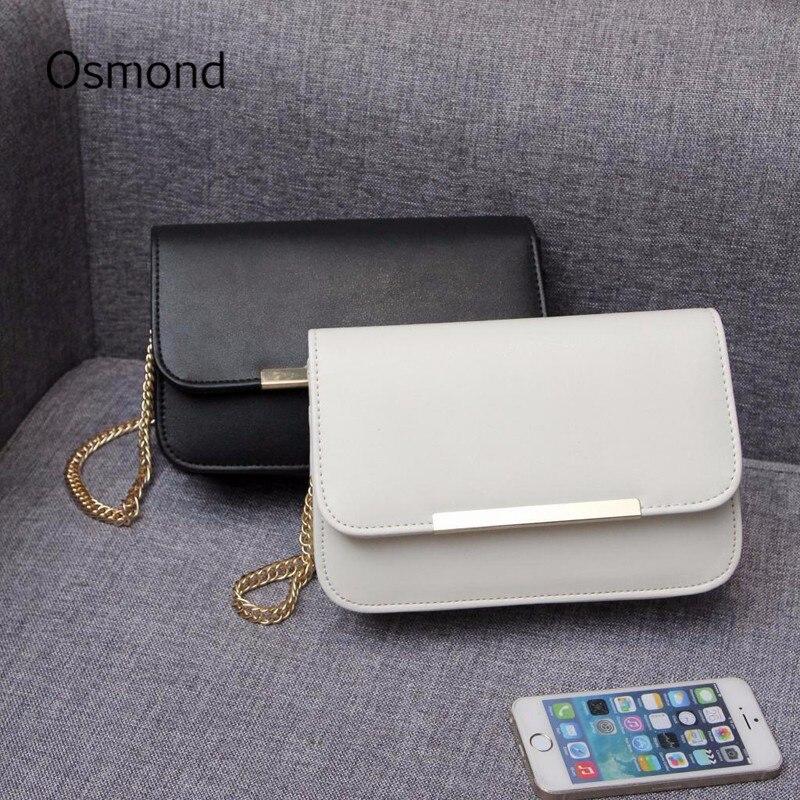 Osmond Mujeres Bolsos de Cuero Pequeña Bolsa de Mensajero de Moda Sólido Simple