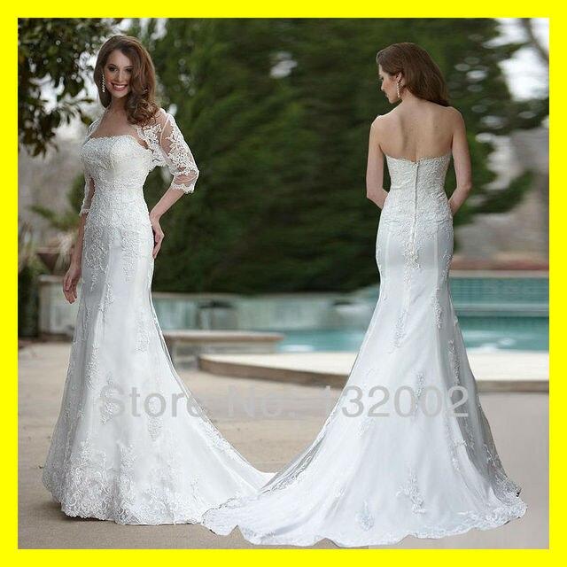 Petite Wedding Dresses Off White Dress Beach Jj Sleeve Mermaid Floor Length Chapel Train Lace Sweetheart With Jac 2015 In Stock