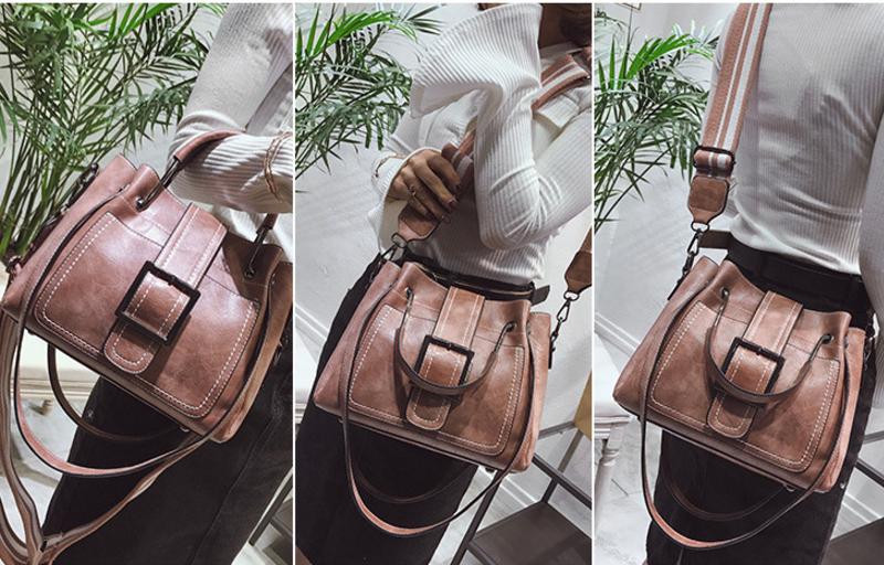 New European and American style vintage PU women handbag shoulder bag messenger bag 75