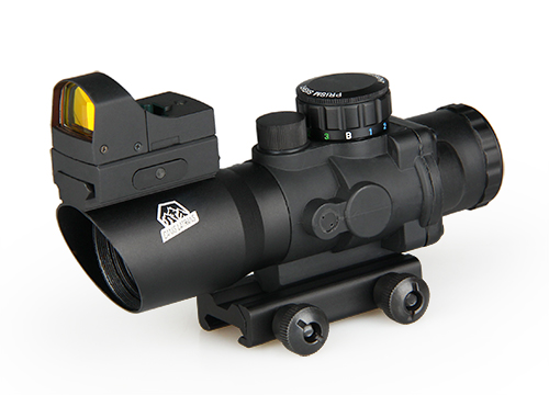 Military Tactical 4x32 Rifle Scope with Mini Red Dot For Outdoor Shooting PP1-0289 high quality 6 25x56sff side foucs rifle scope pp1 0202