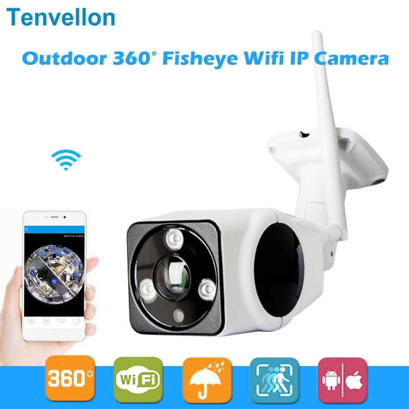 bilder für HD 960 P Wifi Ip-kamera Im Freien 360 Grad FishEye Sicherheit Kamera 1.3MP P2P IR Netzwerk Wasserdichte IR Gewehrkugel Überwachung kamera