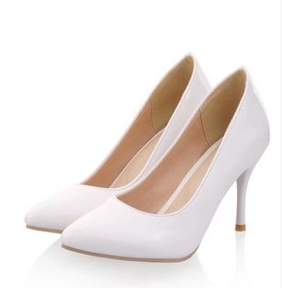 2016 Ladies big size 34-47 sexy elegant high heeled pointy toe Pumps wedding shoes beige/black/red/pink/white Kvoll OL Stilettos