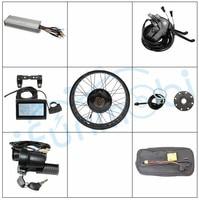 Ebike Комплект 36 В 48 В 1000 Вт Fat Tire Электрические велосипеды велосипед заднего колеса Переделочные комплекты + контроллер + LCD3 Дисплей + pas для заж