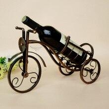1PC Retro Tricycle Shape Red Wine Rack Kitchen Holder Metal Shelf for Wedding Banquet Restaurant Home Bar KI 2053