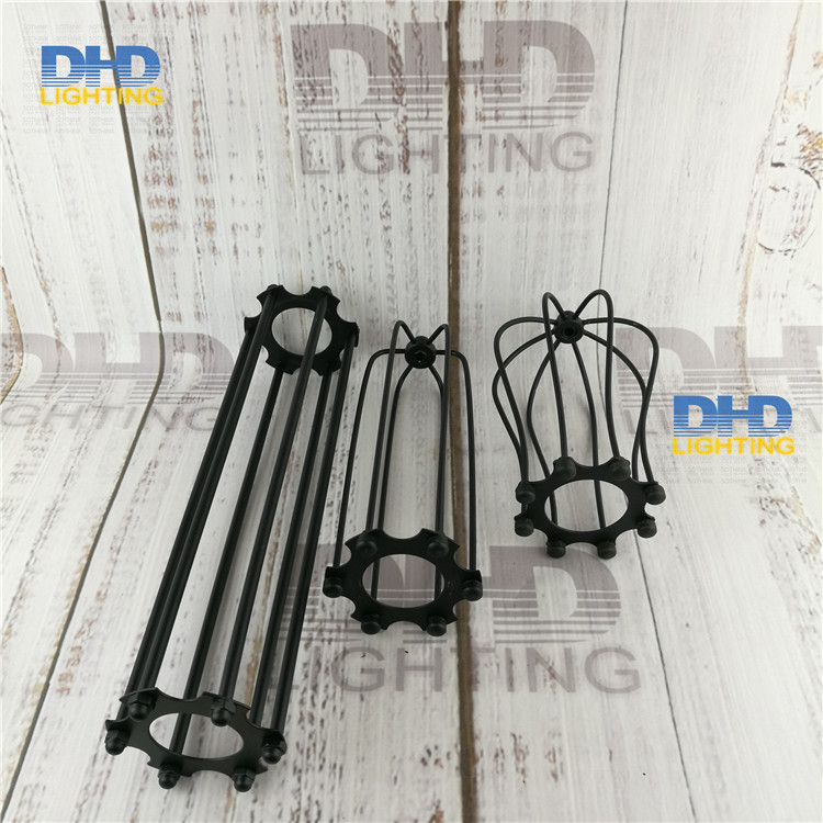 Free shipping 3 styles black finished iron cage lampshade hot-selling vintage DIY lighting shade industrial retro light shade