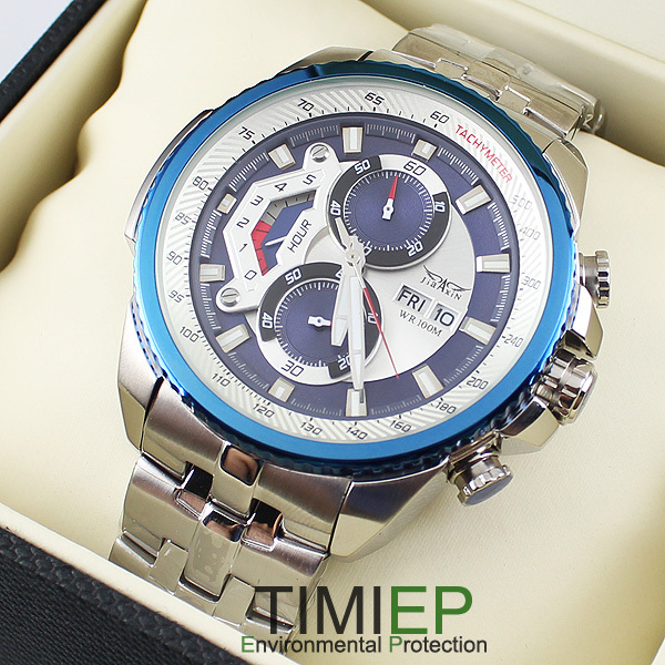 New Blue Luxury Mens Watches  Stainless Steel Dive Watch Man Wristwatch Diving