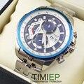 Novo Azul de Luxo Mens Relógios de Aço Inoxidável Dive Relógio Homem Relógio de Pulso de Mergulho