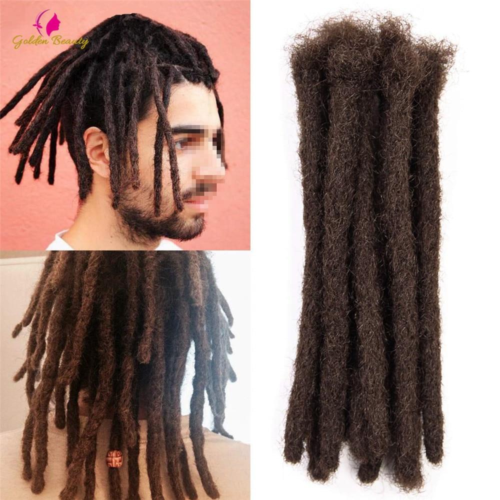 "Golden Beauty 6"" 10"" Handmade Dreadlocks Hair Extensions 5strands Synthetic Dreadlock Crochet Hair For Women Men 2"