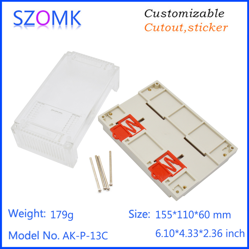 szomk plastic din rail enclosure electronics box PLC instrument plastic housing case plastic junction box (14)