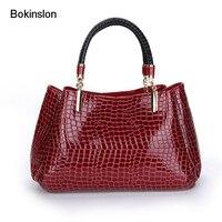 Bokinslon Woman Big Bags PU Leather Popular Handbags For Women Bags Fashion Temperament Female Leather Bags