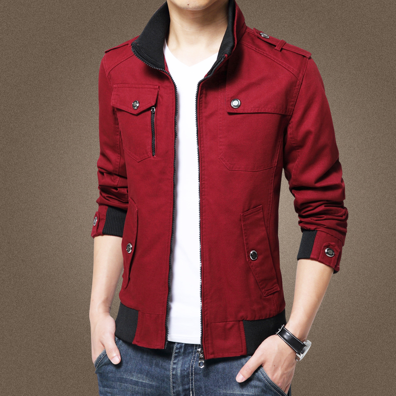 Image 2 - Red Casual Men's Jacket Coat Military Jacket Men Male Plus Size Winter Pilot Jackets Fashion veste homme Brand Outwear Coat 1081-in Jackets from Men's Clothing