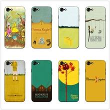 Moonrise Kingdom painting phone case black soft cover for Samsung s8 s9 s10plus S6 S7E S5 iPhone 6s 7 8plus 5 X XS XR XSMax