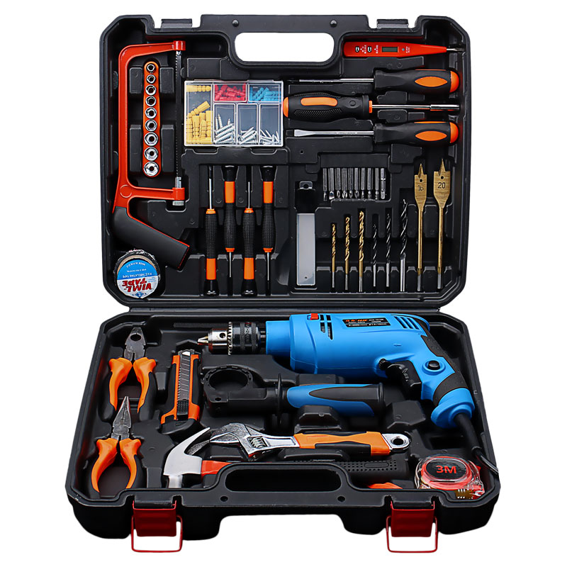 цена на 220V multifunctional household electric screwdriver drill drill electric rotary pistol drill screwdriver kit
