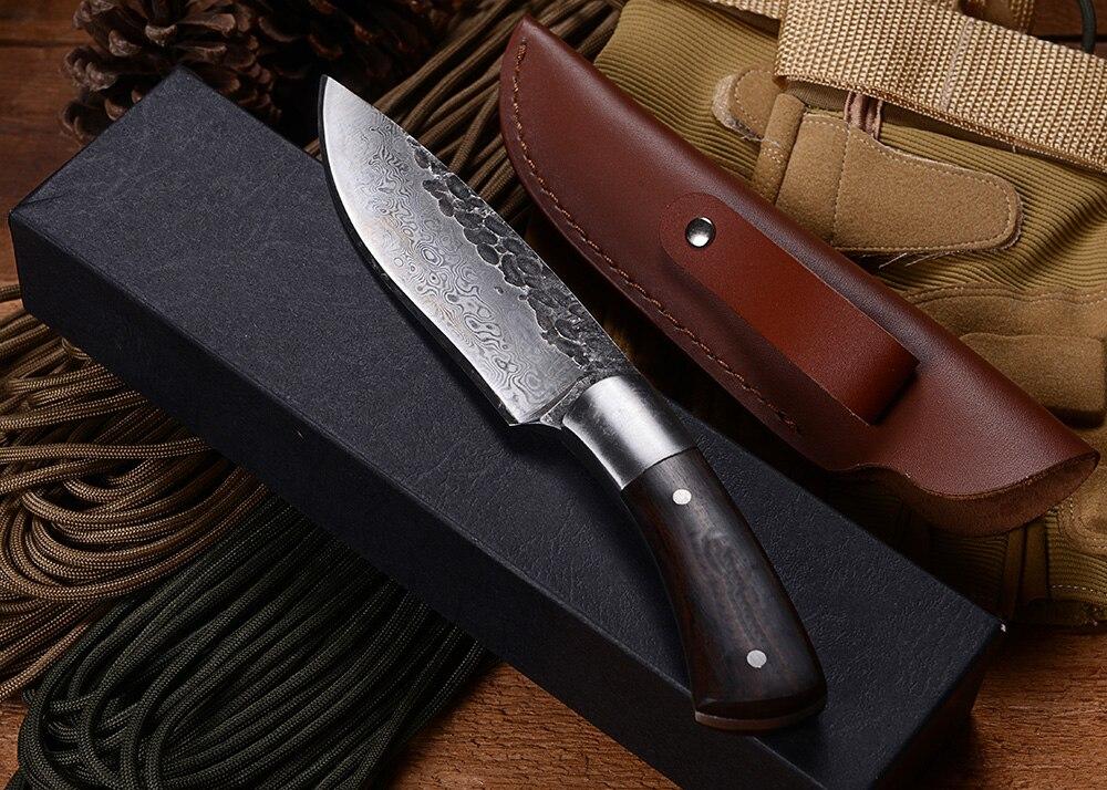 BGT Kuty Ręcznie Nóż z Ostrzem Rękojeść Z Drewna Taktyczny - Narzędzia ręczne - Zdjęcie 6
