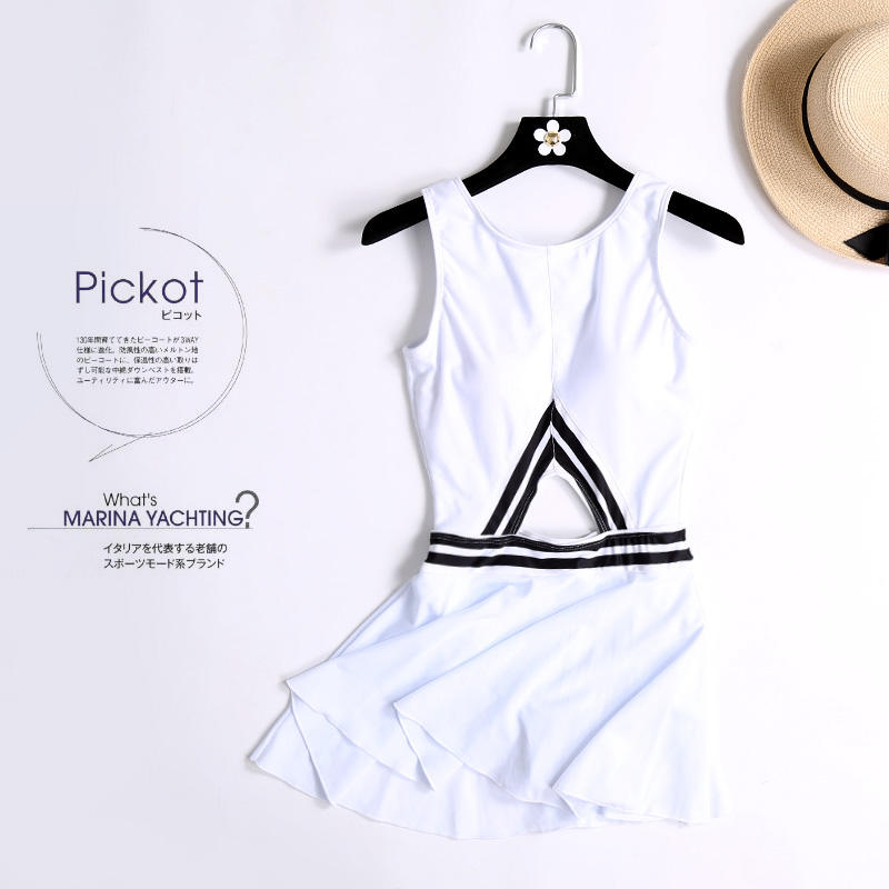 Yingfa Limited Women Staerk 2017 Skirt Conservative Gathered Solid Color Temperament Thin Belly Hot Springs Students Swimsuit staerk 2017 swimsuit female conservative one piece skirt korean stripe gathered thin thin belly holiday