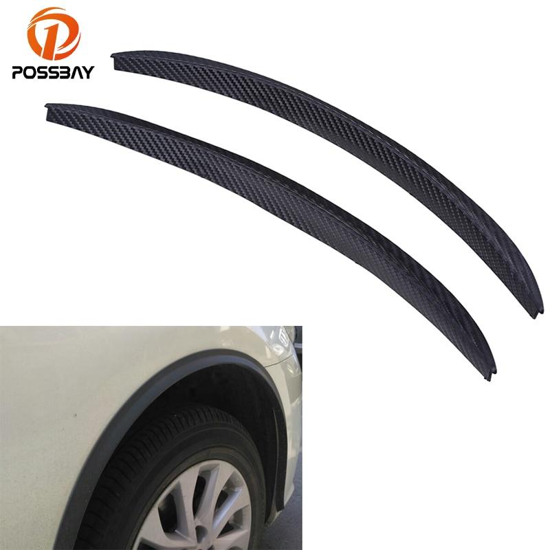 POSSBAY Car Mudguards Black Wheels Lip Fender Flares Auto Protect Strip Car Mud Guards for Nissan Polo Kia Mazda Honda Civic