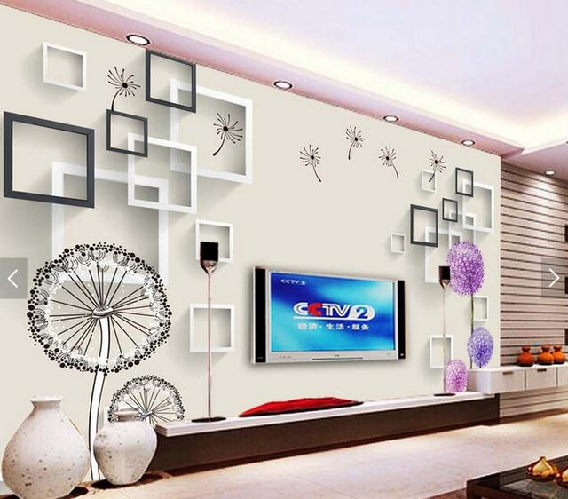 US $9.99 50% OFF|Dandelion Floral Wallpapers Photo Wall Mural Living Room  Modern Wallpaper Classic 3d Mural Wallpaper Natural Fiber Wallpaper-in ...