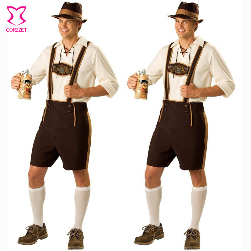 Hot Oktoberfest Costume Lederhosen Bavarian Octoberfest German Festival Beer Halloween Costumes And Mens Cosplay