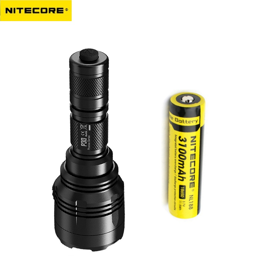 NITECORE P30 5 Modes CREE XP-L HI V3 1000LM Long Range 618 meter LED Flashlight for Hunting Torch Search Light ...