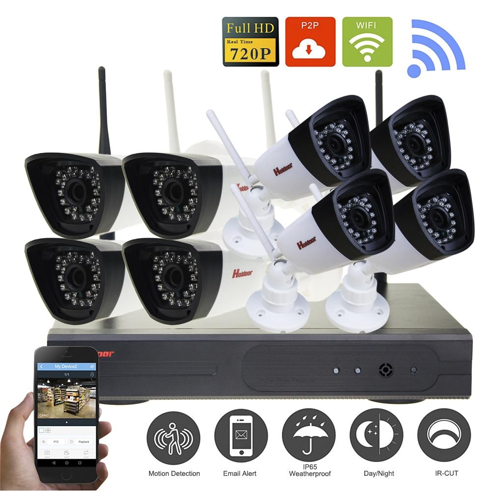 HD 8CH 720P Wireless NVR CCTV System 1MP 720P Wifi IP Camera Waterproof Day/Night Security Camera Video Surveillance Kit