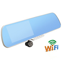 New 5 0 Inch Car DVR GPS Wifi Car Mirror Camera Android Full HD 1080P Dual