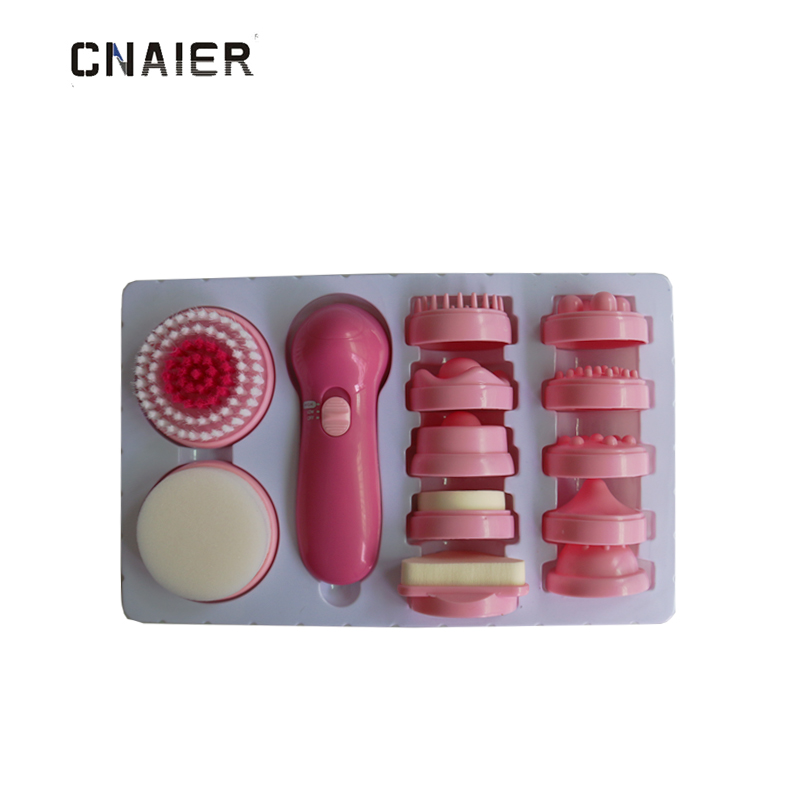 все цены на AE-8781 New style 12 In 1 Multi-functioinal Effective Soften Skin Ladies Electric Facial Cleansing Brush онлайн