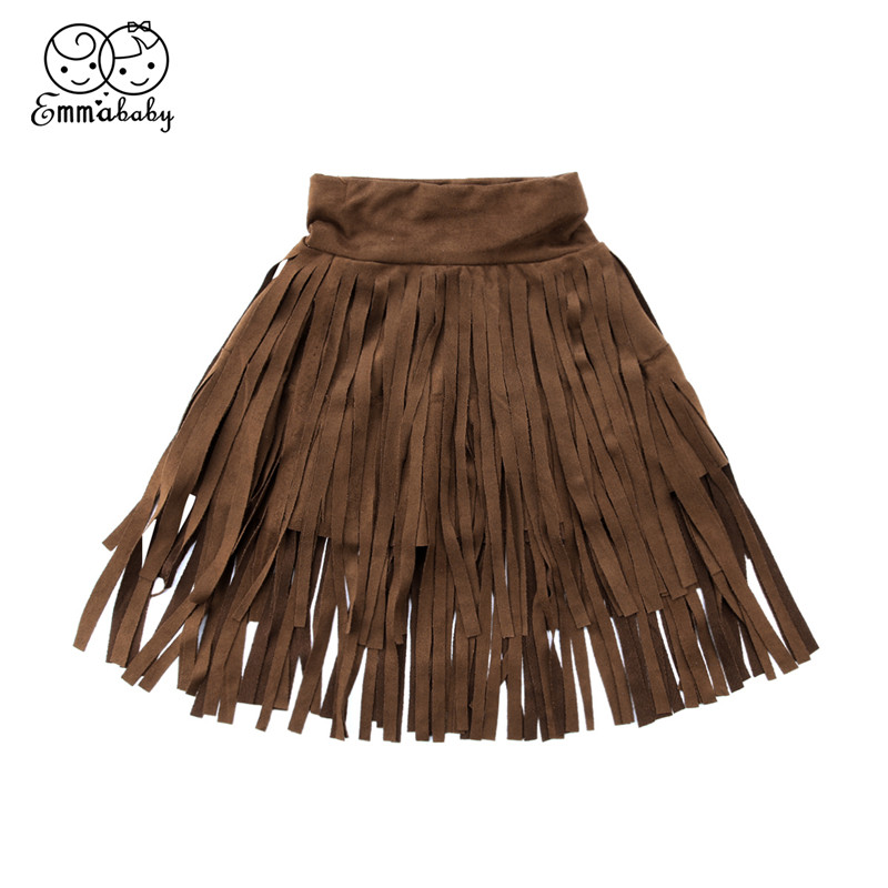 Toddler Baby Girls Fashion Skirts Hot Sale Summer Princess Tassel Skirts Party Kids Pure Skirt 2-7 Years Children Fringe Skirt