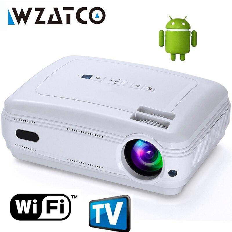 Date de Mise À Niveau Android 7.1 Smart WIFI Airplay Miracast Bluetooth HD LED Projecteur 5500 lumens TV Proyector Beamer Multi pour La Maison