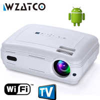 Mise à niveau 5500lumens TV projecteur LED Android 9.0 Smart WIFI Airplay Miracast Bluetooth HD Proyector Beamer Multi pour Home cinéma