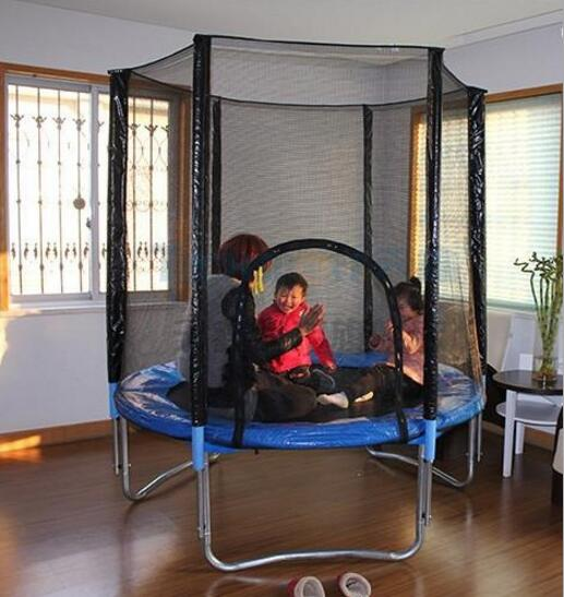 183CM Trampoline Jumping Bed Bounce Bed Trampolinturnen With Safety Net