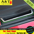 A & T estilo do carro Para Ford Kuga Fuga cromo caixa de Armazenamento decorativo guarnição 2013-2015 Para O Kuga Interiores Mouldingsticker carro especial