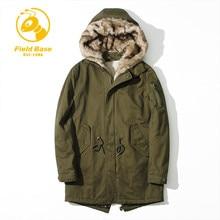 Field Base Parka Men Jacket Coat Russian Wadded Winter Thick Padded Long Hooded Casual Warm Snow Windbreaker Overcoat Jackets