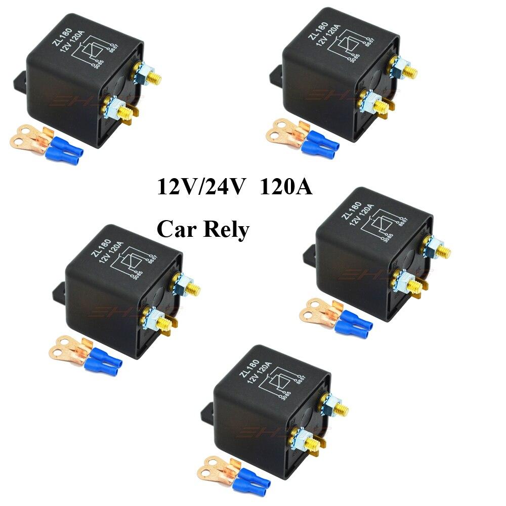 5 Шт. 12 В 24 В 120A 4 Pin Автомобильный Блок Реле Переключателя Аккумуляторной Батареи для авто на Большегрузные Транспортные Средства Грузовик Э…
