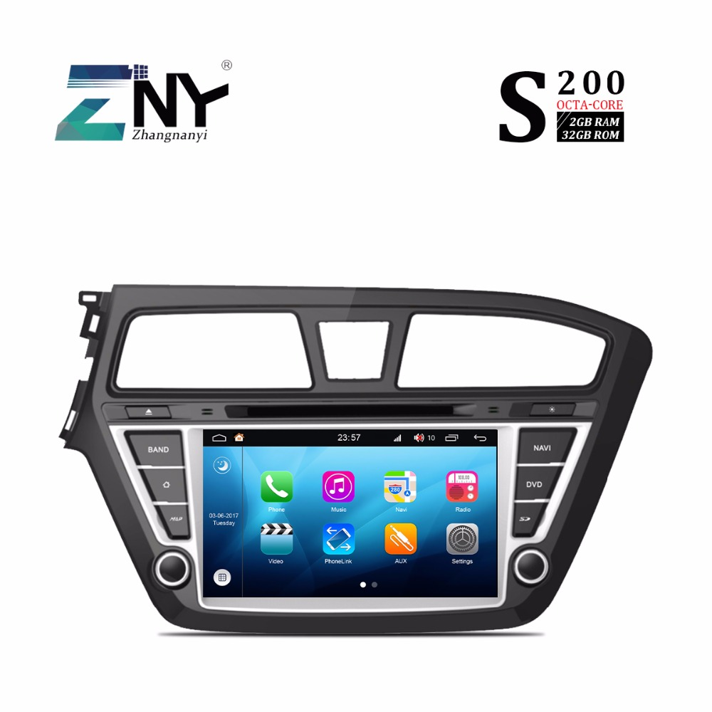 7 Android 8 0 Car DVD For Hyundai I20 2015 2016 2017 Double Din Auto PC