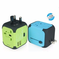 Dual USB Charging 2 4A LED Power Indicator Universal Travel Adapter Electric Plugs Sockets Converter US