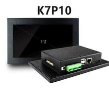 Tela 7 polegada um industrial, máquina de tela de toque industrial integrado, display de controle industrial incorporado HMI RS232 + RS485
