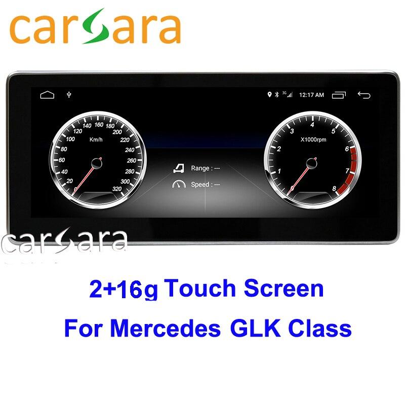 2G RAM 16G ROM Android GPS stéréo écran tactile pour GLK classe X204 280 300 350 2008 à 2015