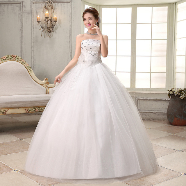 d5febaff0e US $50.16 |Free shipping 2016 new cheap wedding gown white lace romantic  wedding dress bride wedding dresses price under 50-in Wedding Dresses from  ...