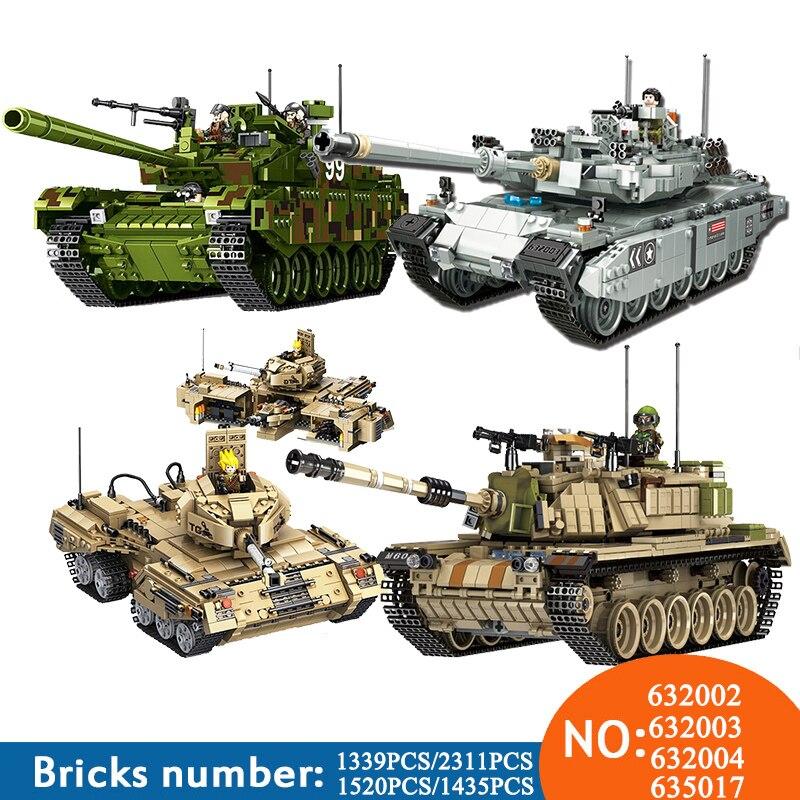 NEW PLS Military 632002 632003 1339pcs TYPE 99 Main Battle Tank Building Blocks Bricks enlighten toys