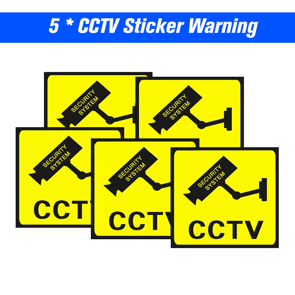 LOT 7 SECURITY SURVIELLANCE CAMERA WARNING STICKERS.