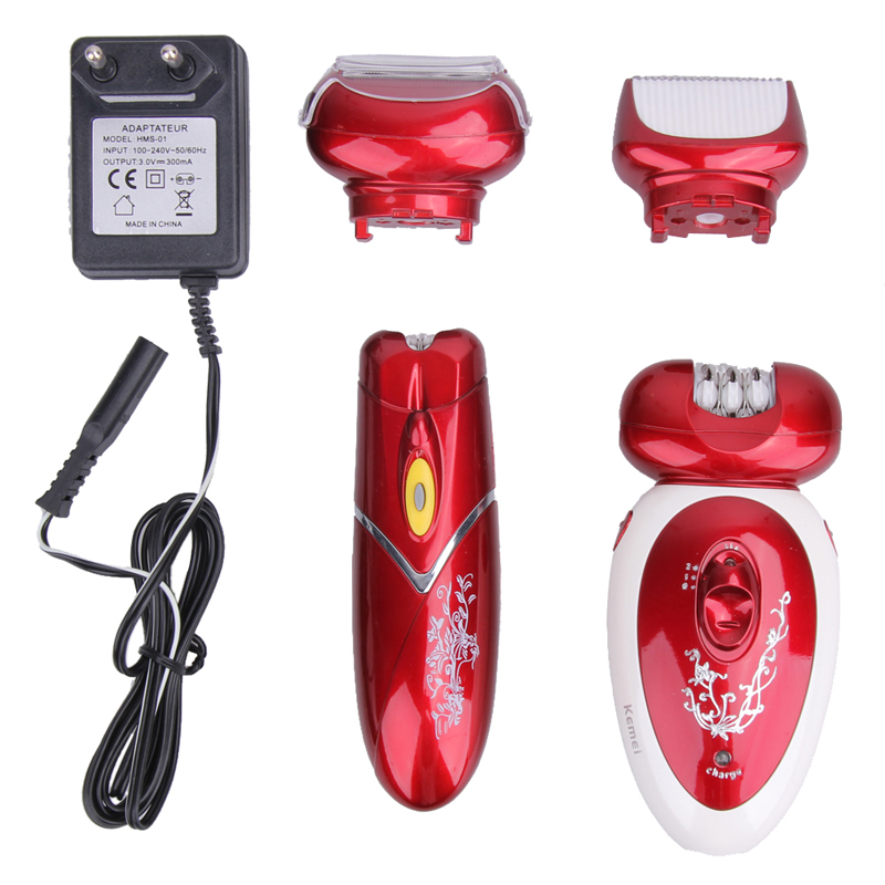 ФОТО Kemei KM-3048 Multi 4 in 1 Professional Rechargeable Shaver Hair Removal Device For Face Underarms Legs Bikini Line ( EU Plug )