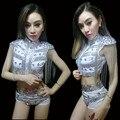 Современный костюм танец спуск хип-хоп dj певица блестка набор eepaulet кисточкой блестки комплект одежды сценическое джаз одежда