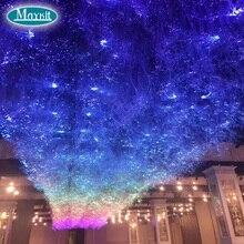 Maykit Chic Lichtgevende Cloud Glasvezel Plafondlamp met 32 W RGBW DMX LED Lichtbron Fiber Kabel Voor Bar Club Lounge Cloud