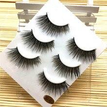 79f7ebb97c8 3 Pairs Long False Eyelashes Makeup Natural Fake Thick Black Eye Lashes  OutTop Good Quality Jun30