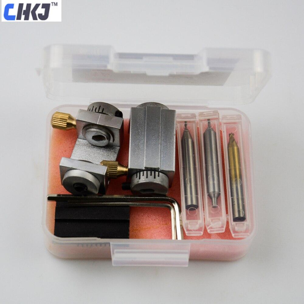 Chkj ford mondeo jaguar chave do carro máquina de corte dispositivo elétrico braçadeira chave ford para copiar acessórios da máquina ferramentas serralheiro
