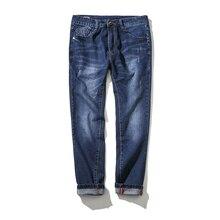 2017 новый мужской моды прямые джинсы мужские брюки с высоким качество 100% хлопок джинсы Свободный стиль джинсы мужчины Super size 32-48