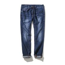 2017 new Men's vogue straight jeans Men's pants with top of the range 100% cotton jeans Loose mannequin jeans males Super dimension 32-48